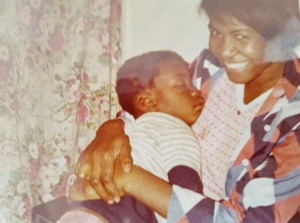 Larcenia Floyd with a young George