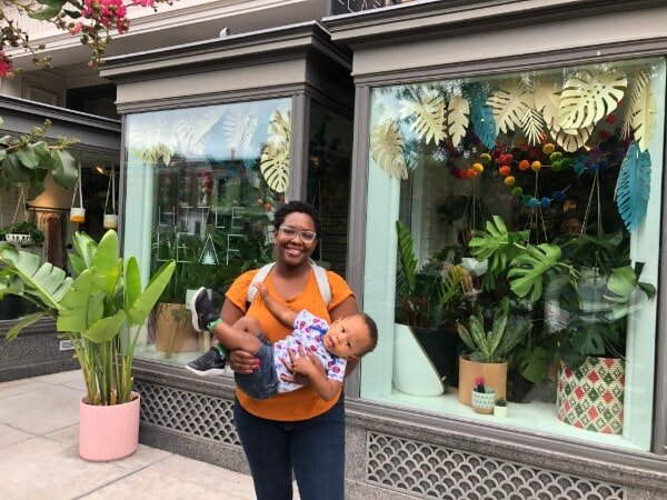 Aketa with her second child, Evan.