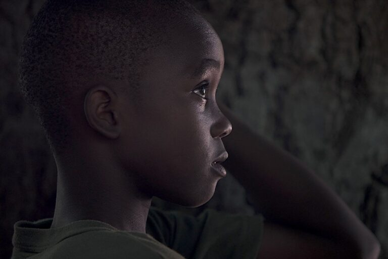 Black boy in profile