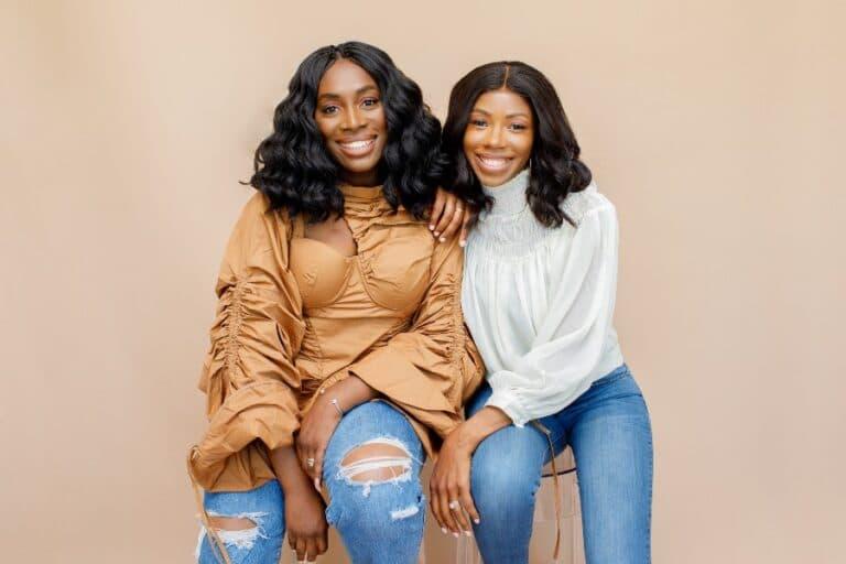two beautiful smiling women